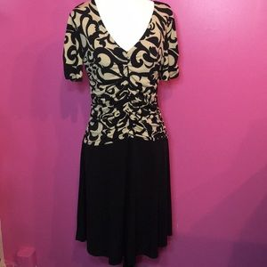 Enfocus Petite 12P. Black/Tan  Dress